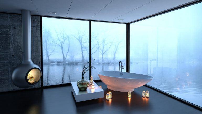 badekar med terapi belysning